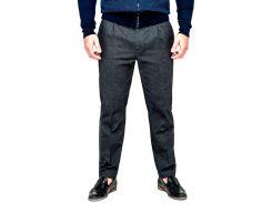 Мужские брюки из костюмного коттона, серые, размер M, Dilovyi