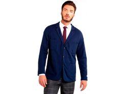 Мужской пиджак трикотажный, синий, размер S, Dilovyi