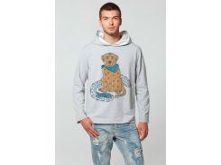 Мужской худи с капюшоном Канадский лабрадор, Диво, серый, XL