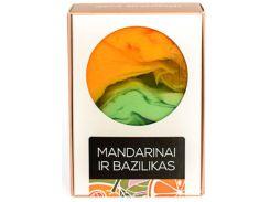 Мыло ручной работы Мандарин с базиликом, 100 г., Aromika