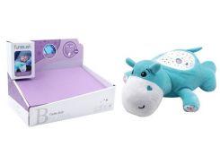 Мягкая музыкальная игрушка, Бегемот с проектором, Funmuch