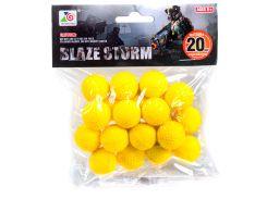 Мягкие шарики для бластеров Blaze Storm, (20 шт.), Zecong Toys
