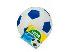 Мяч футбольный мягкий (бело-синий), 10 см, Lena