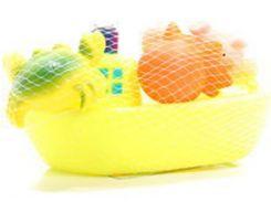 Набор игрушек для ванной Корабль друзей (желтый цвет), Baby team