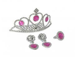 Набор игрушечных украшений для девочки с тиарой, розовый, Sl Girls
