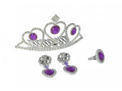 Набор игрушечных украшений для девочки с тиарой, фиолетовый, Sl Girls