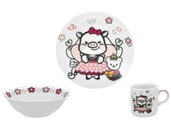 Набор посуды 3 предмета (керамика) Sweety, Limited Edition