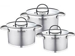 Набор посуды Maxmark Flat 6 предметов (MK-FL3306H)