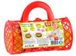 Набор посуды в сумке (красный), Ecoiffier