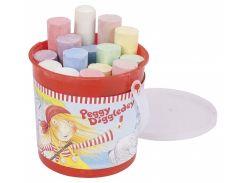 Набор цветных мелков для асфальта Peggy Diggledey, 15 шт., Goki