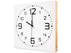 Настенные часы ручной работы, с деревянным бортом, белые, Kauza