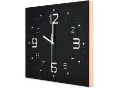 Настенные часы ручной работы, с деревянным бортом, черные, Kauza