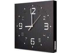 Настенные часы ручной работы, черные, Kauza