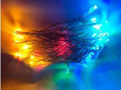 Новогодняя гирлянда для улицы под навесом, 5 метров, на батарейках, RGB, IP44, Ecolend