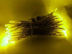 Новогодняя гирлянда для улицы под навесом, 5 метров, на батарейках, желтый, IP44, Ecolend