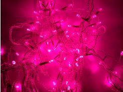 Новогодняя гирлянда фасадная (под навесом), 4 × 0,6 м, розовый, IP44, Ecolend