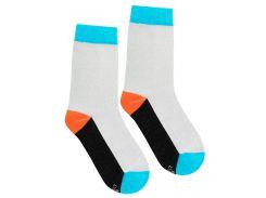 Носки с цветным следом, Duna, светло-серые, 16-18 (23-26)