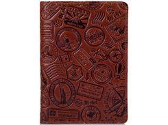 Обложка для паспорта HiArt PC-03 Crystal Сognac Let's Go Travel (PC-03-C19-1436-T007)