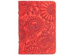 Обложка-органайзер ID паспорта карт HiArt AD-03 Shabby Red Berry Mehendi Art (AD-03-S18-1440-T005)