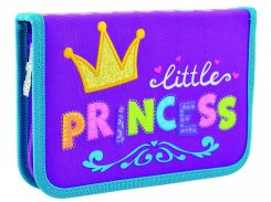 Пенал твердый одинарный без клапана HP-02 Little Princess, 1 Вересня