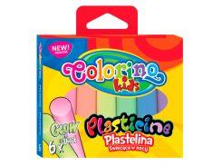 Пластилин Glow, 6 цветов, Colorino