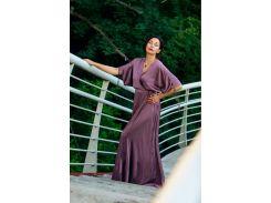 Платье Лавандовый мокко (на запах, шелковое, мокко), размер S, Garna