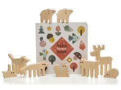 Подарочный набор Игрушка-балансир Лесные зверюшки и книжка, Lislis toys