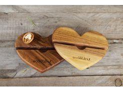 Подставка для гаджетов Сердце, EcoWalnut