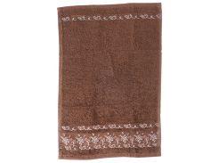 Полотенце 30 на 50, цвет коричневый, Gurdal