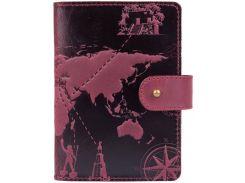 Портмоне для паспорта ID HiArt PB-02/1 Shabby Plum 7 wonders of the world (PB-02/1-S19-1621-T002)