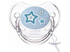 Пустышка Newborn baby силиконовая анатомическая, голубая с звездочками, 0-6 мес, Canpol babies