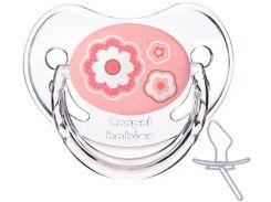 Пустышка Newborn baby силиконовая анатомическая, с цветочками, 0-6 мес, Canpol babies