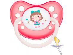 Пустышка Toys, латексная анатомическая (розовая), 0-6 мес, Canpol babies