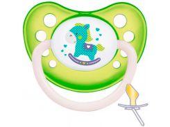 Пустышка Toys, латексная анатомическая (салатовая), 0-6 мес, Canpol babies