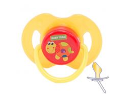 Пустышка латексная (оранжевый цвет), ортодонтическая, Baby Team