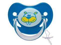 Пустышка силиконовая анатомическая, 6-18 мес (бирюзовая), Canpol babies