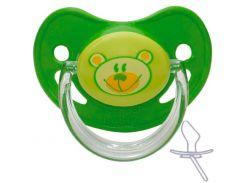 Пустышка силиконовая анатомическая, 6-18 мес (зеленая), Canpol babies