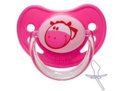 Пустышка силиконовая анатомическая, 6-18 мес (розовая), Canpol babies