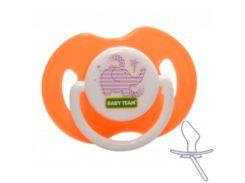 Пустышка силиконовая классическая, (оранжевый цвет), Baby Team