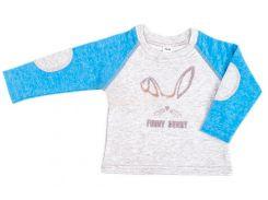 Реглан для мальчика Funny Dunny, Danaya, бело-голубой (98 р.)