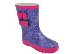 Резиновые сапоги для девочек 5516-1373, фиолетово-розовые, Lapsi (Arial) (30)