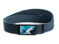 Ремень ZIZ Океаническая волна синий (2904805)
