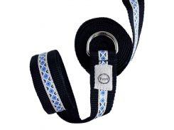 Ремень для йоги Ethno belt B, черно-синий, Foyo