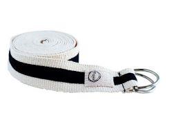 Ремень для йоги Two belt B, бело-черный, Foyo