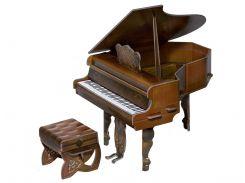 Рояль (коричневый), коллекционный набор сборной мебели из картона, Умная бумага
