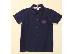 Рубашка на мальчика, Fashion Boy, темно-синяя (122-128)
