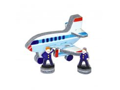 Самолет, Мягкий конструктор-игрушка серии Конструктор на ладони, Умная бумага