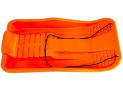 Санки пластиковые с веревкой, оранжевые (до 90 кг), Kronos Toys