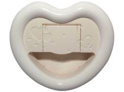Селфи-лампа в виде сердечка белая (Коз/0001_Бел.)
