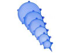 Силиконовые крышкиGORVADнабор 6 шт. голубые (GOR_0001_n6-b)